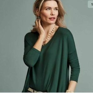 CAbi Chill Tee In Hunger Green Long SL Shirt XXS